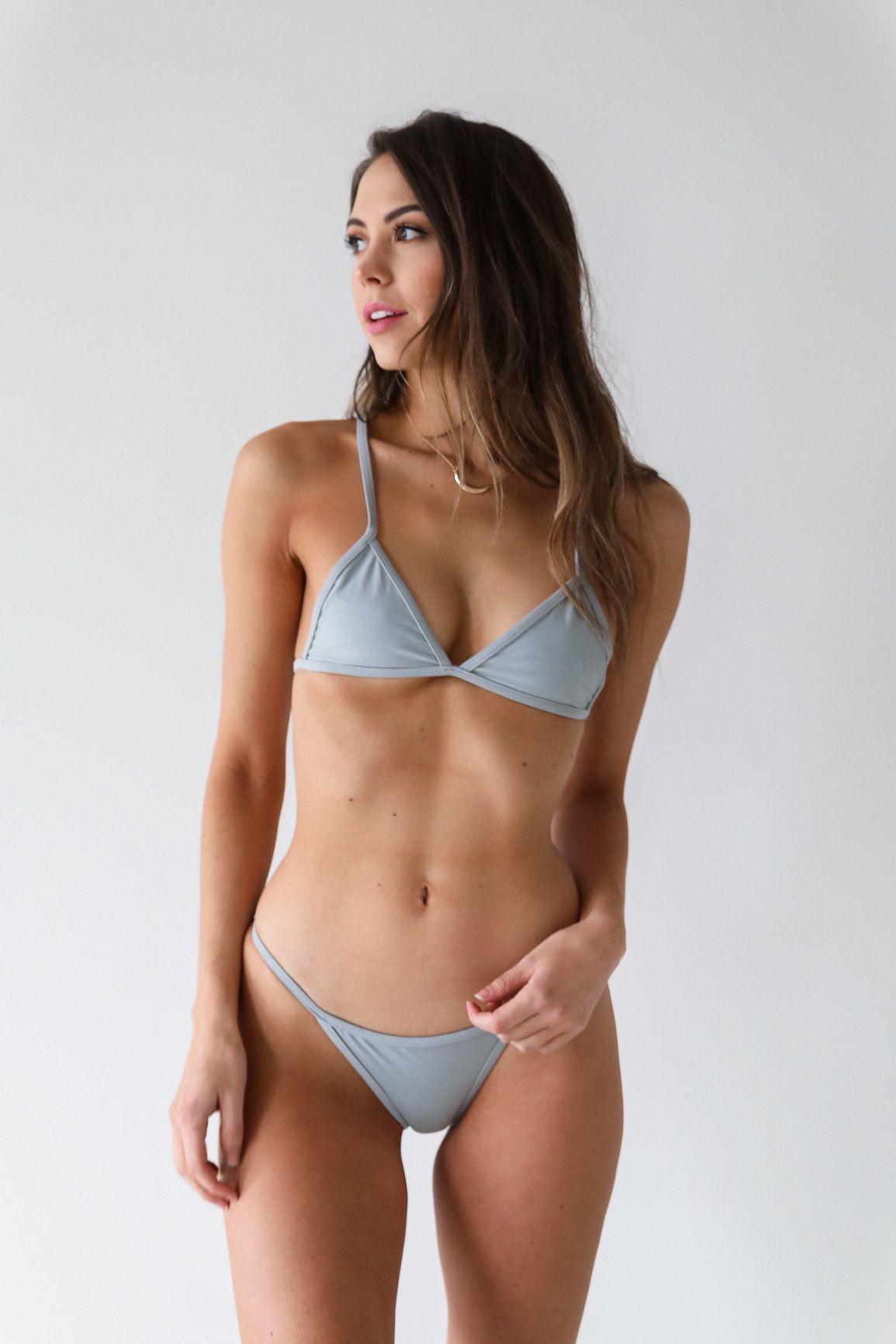 grey cheeky bikini bottom