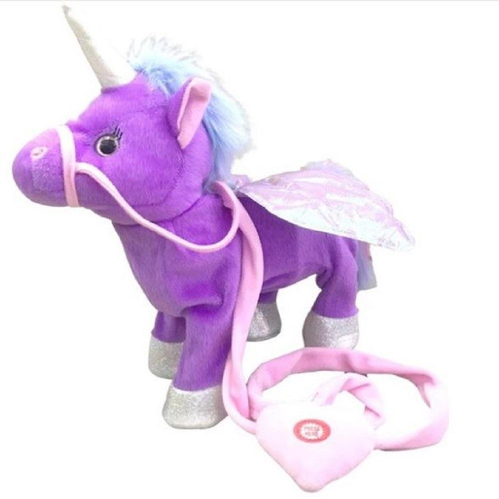 Electric Walking & Singing Unicorn Stuffed Plush Toys Kids