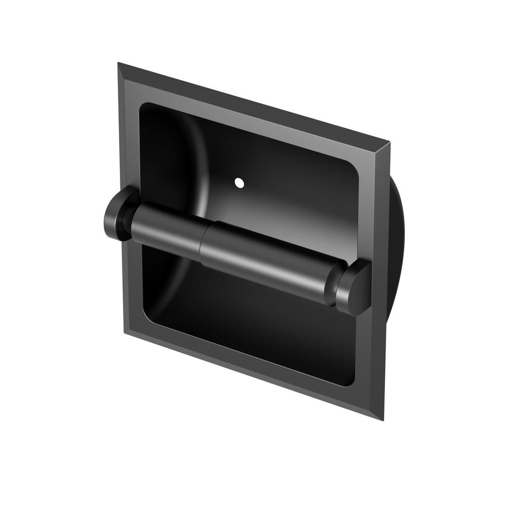 Gatco Recessed Toilet Paper Holder In Matte Black In 2020 Recessed Toilet Paper Holder Black Toilet Paper Holder Bath Accessories