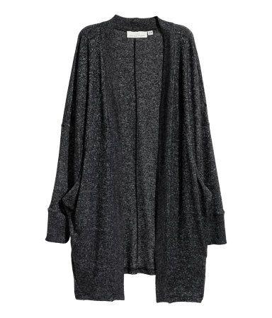 Fine-knit Cardigan   Black melange   Women   H&M US   My Style ...