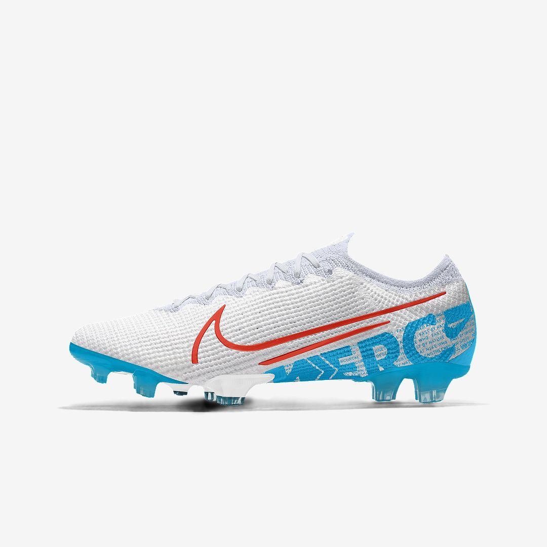 Nike Mercurial Vapor 13 Elite Fg By You Custom Firm Ground Soccer Cleat Size 11 5 Multi Color