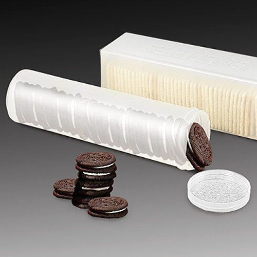 Awesome Set Of 2   Saltine Cracker Sleeve Storage Container / Cookie Stay Fresh  Keeper, Round