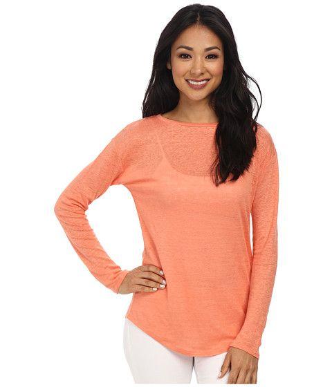 Calvin Klein Jeans Calvin Klein Jeans  LS Linen Tee Geranium Womens Long Sleeve Pullover for 62.99 at Im in!