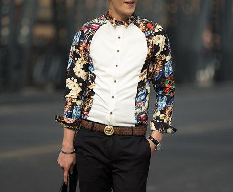 """The """"Ransom"""" Stretchy Dress Shirt – Tattee Boy Clothes"""