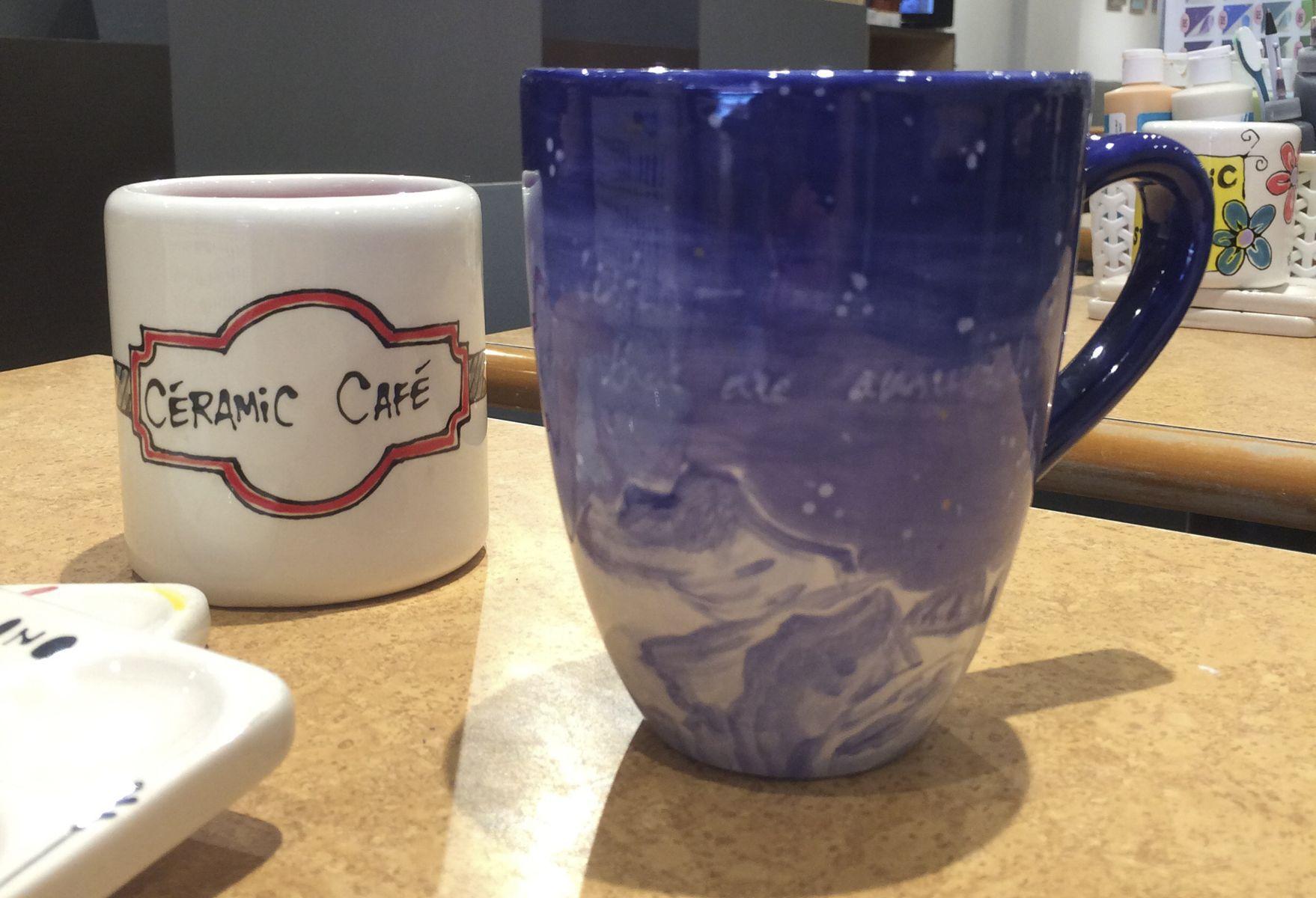 T8 tasse à café #ceramiccafe ceramic hand-painted do it yourself diy #ceramic #ceramicart coffee mug cup to go reusable original #ceramiccafe