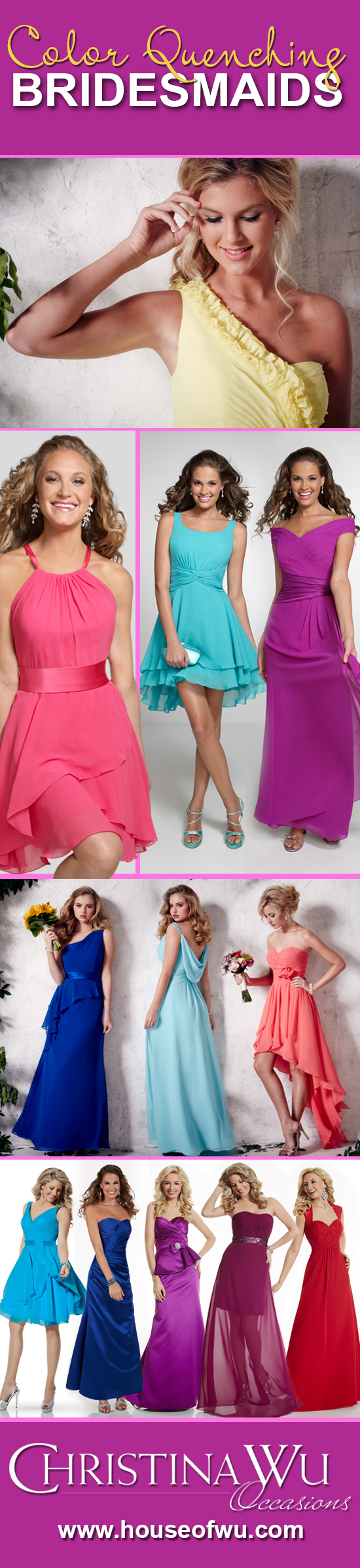 Drench your big day in bold and bright colors. #bridesmaids
