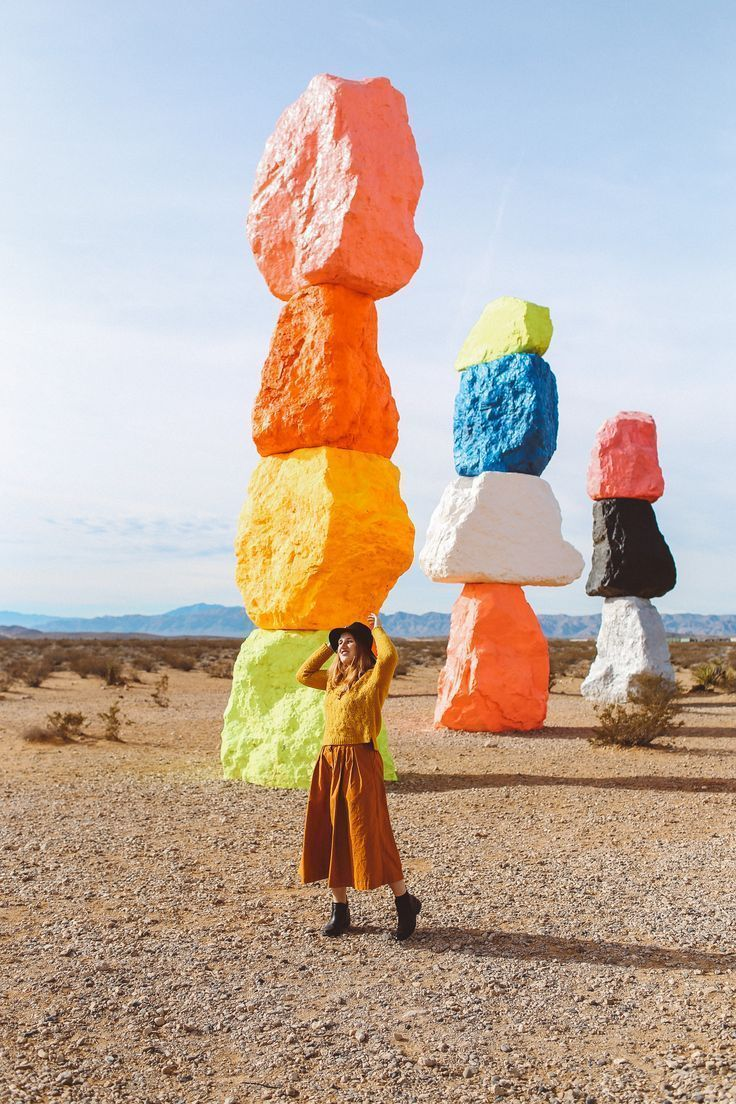 Seven Magic Mountains in Las Vegas. A must for all artsy
