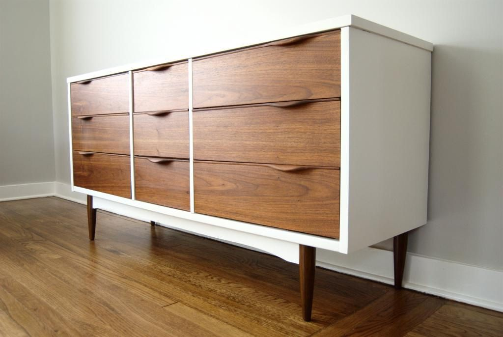 Refinished Mid Century Dresser By Harmony House Furniture