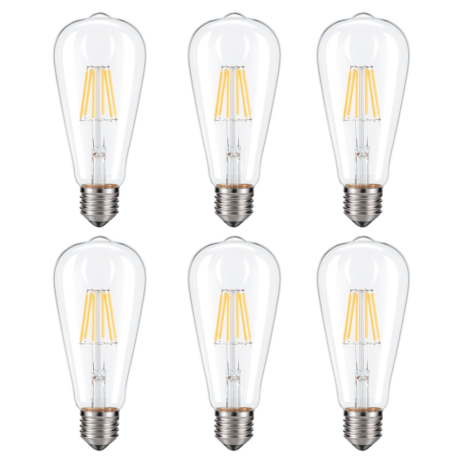 Dimmable Edison Led Bulb Soft Warm White 2700k Kohree 6w Vintage Led Filament Light Bulb 60w Incandescent Eq In 2020 Filament Bulb Lighting Vintage Bulb Led Light Bulb