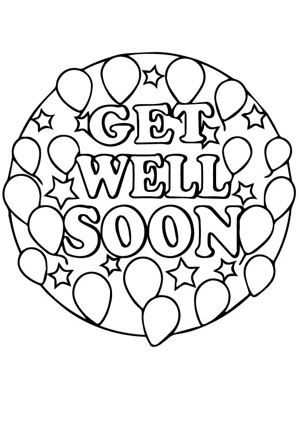 Print Coloring Image Momjunction Get Well Soon Coloring Pages Get Well Cards