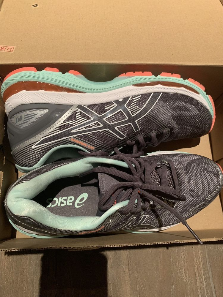 hot sale online 74ad0 1d284 ASICS Womens Gel Nimbus 19 GrY Running Training Athletic ...