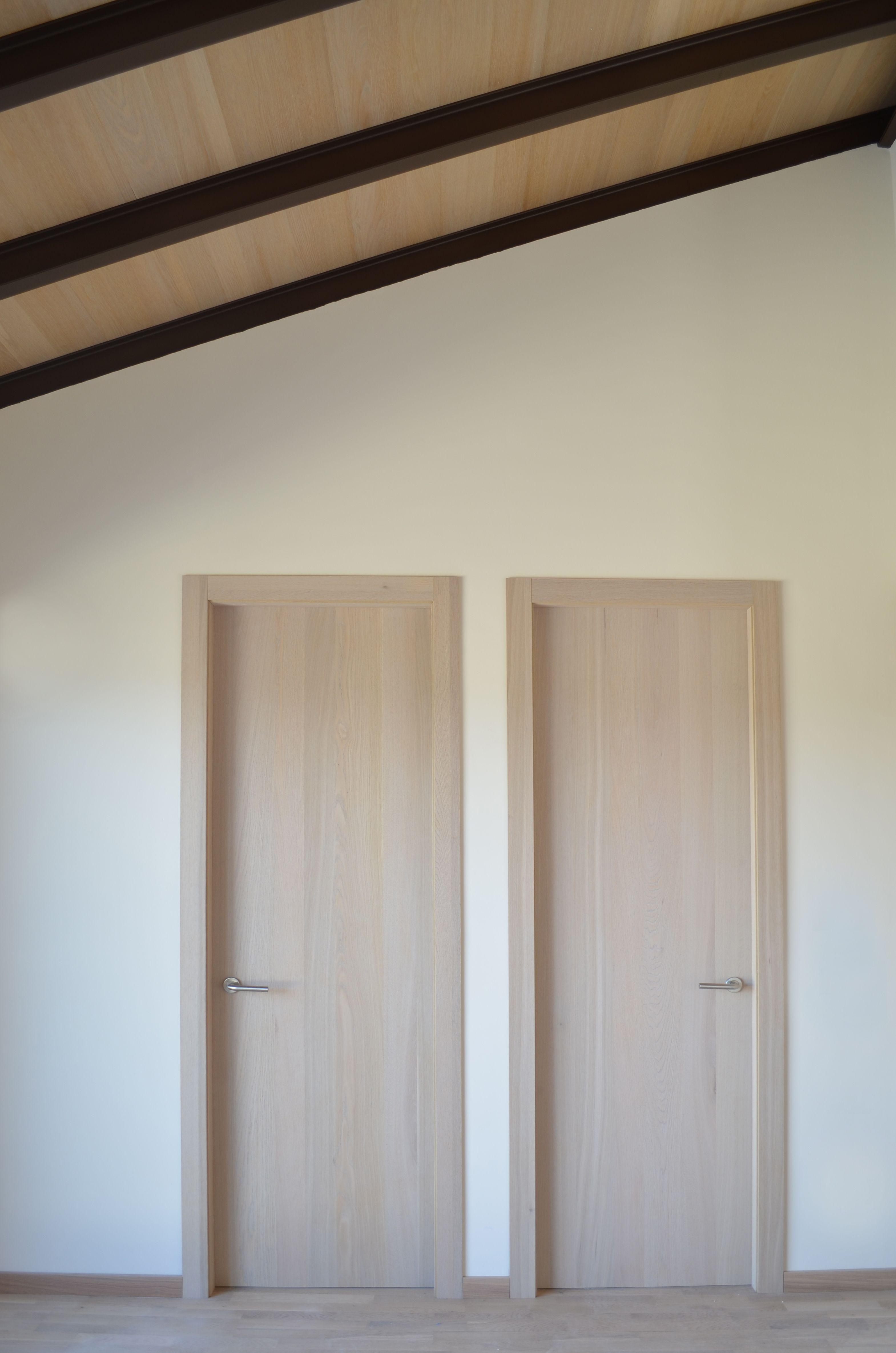 Puertas y marcos realizados con nuestros paneles rechapados de ...