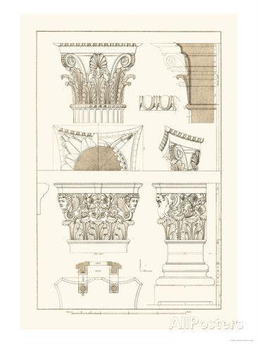 Ancient Capitals Prints J Buhlmann Allposters Com Art Print Display Ancient Architecture Painting Prints