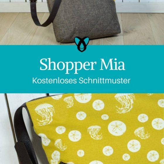 shopper mia tasche nähen kostenloses schnittmuster nähanleitung handtasche einkaufstasche geschenk für frauen ideen für frauen