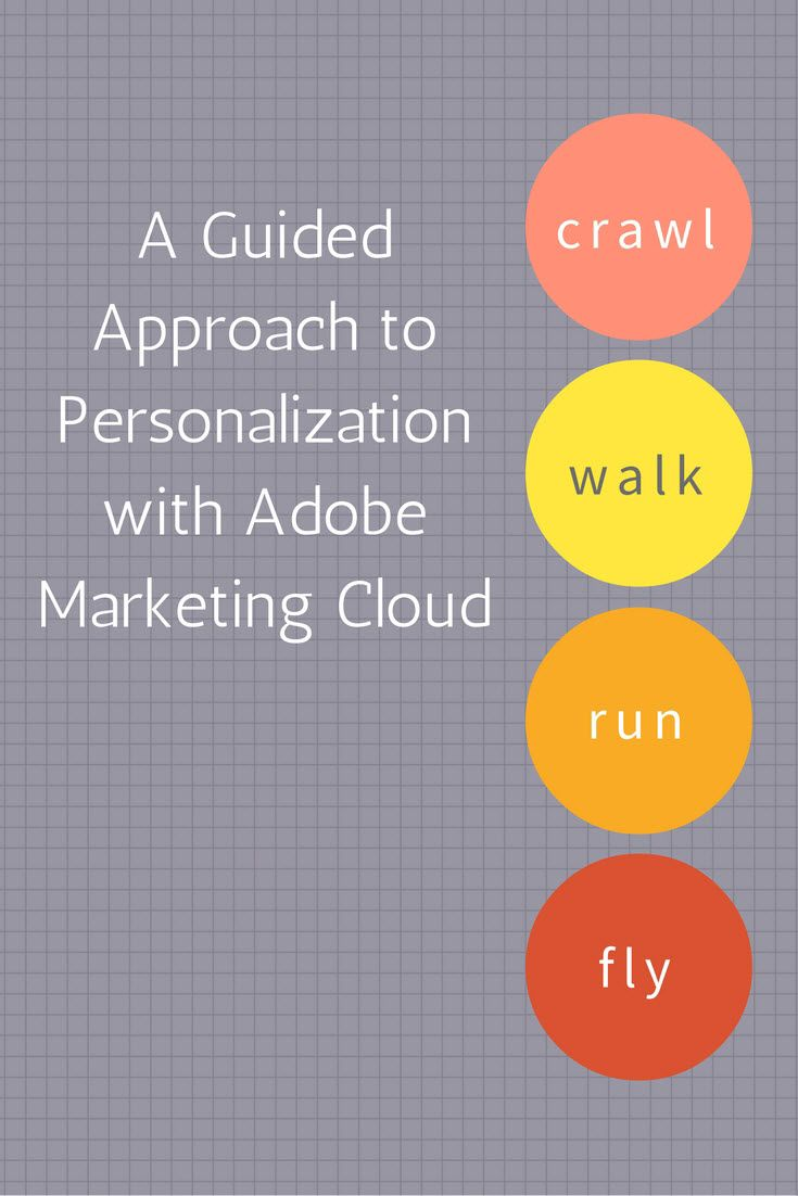 Crawl. Walk. Run. Fly. A Guided Approach to Personalization with Adobe Marketing Cloud