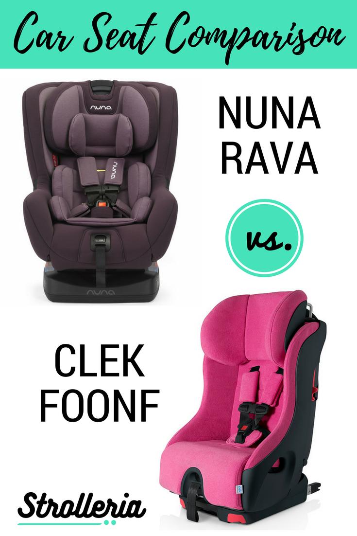 Clek Foonf vs. Nuna RAVA Convertible Car Seat Comparison