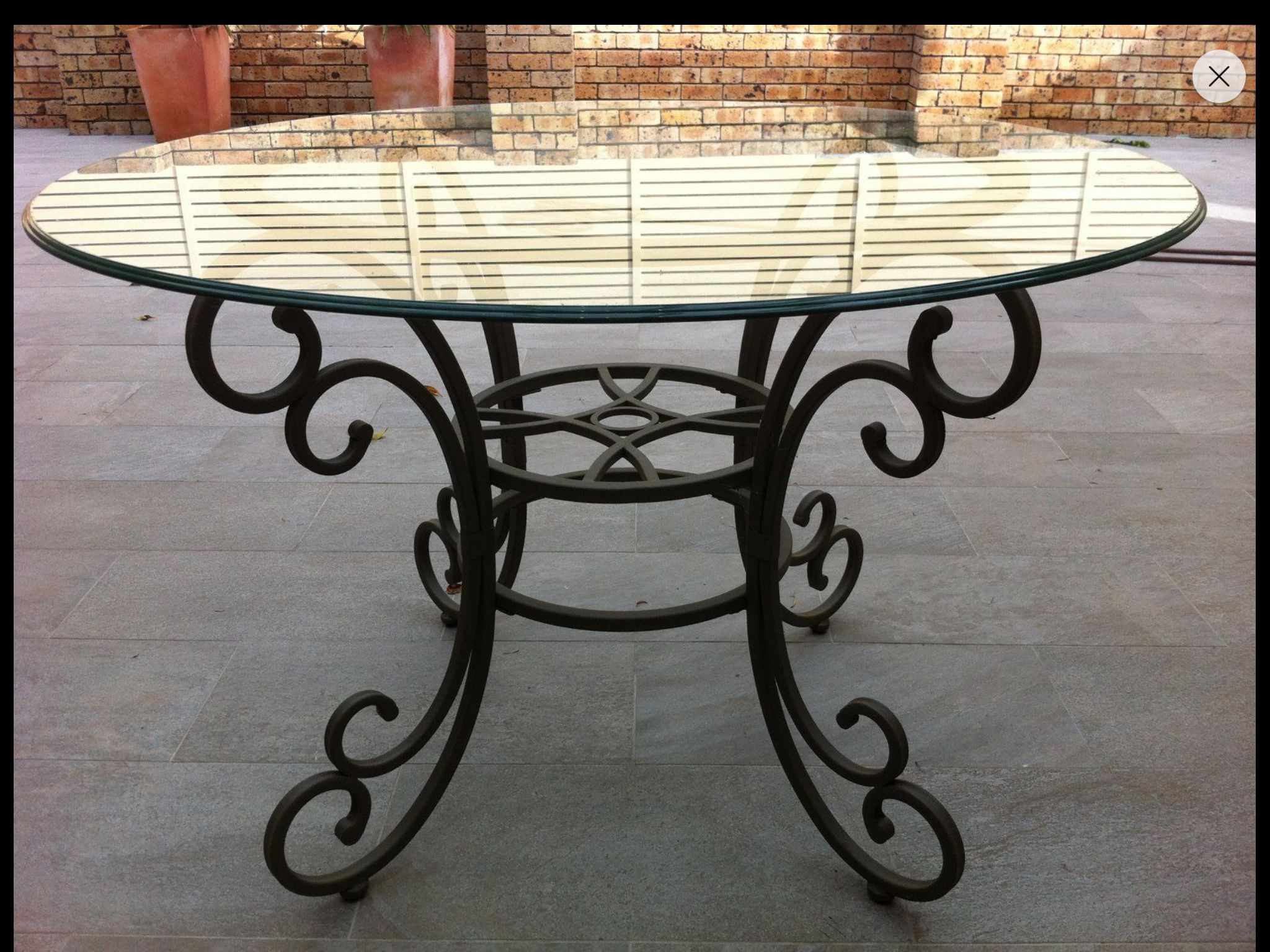 Wrought Iron Table Base Decoracion En Hierro Mesas De Vidrio