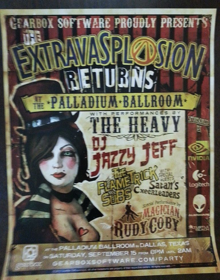 Borderlands 2 Mad Moxxi Poster (Video Game Posters, Extravasplosion