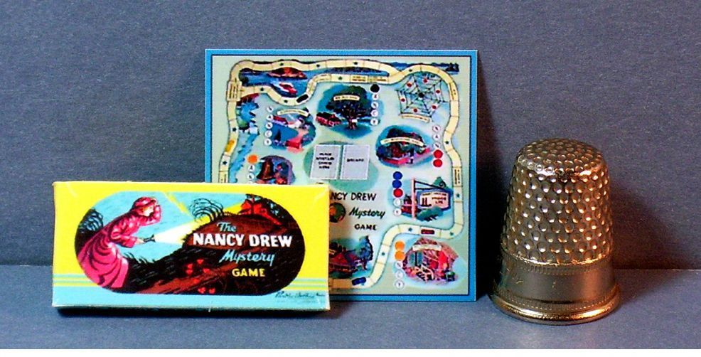 Dollhouse Miniature 1 12 Nancy Drew Mystery Game 1950s Dollhouse Girl Game Toy | eBay