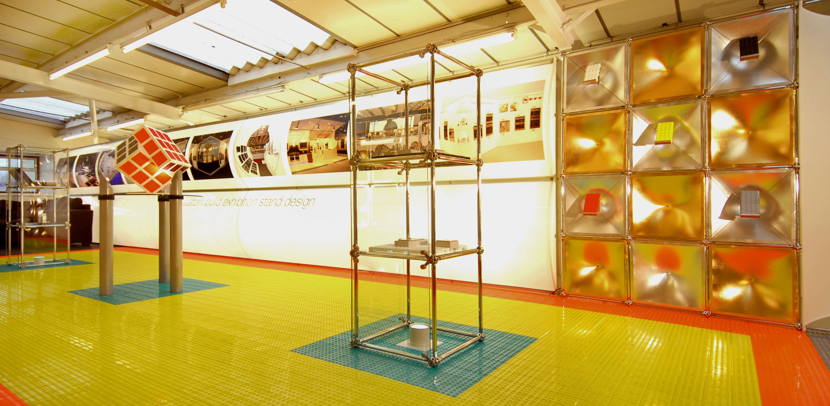 Cable management modular  flooring tiles for exhibition and retail displays. #exhibitions #exhibitiondesign #exhibitionflooring