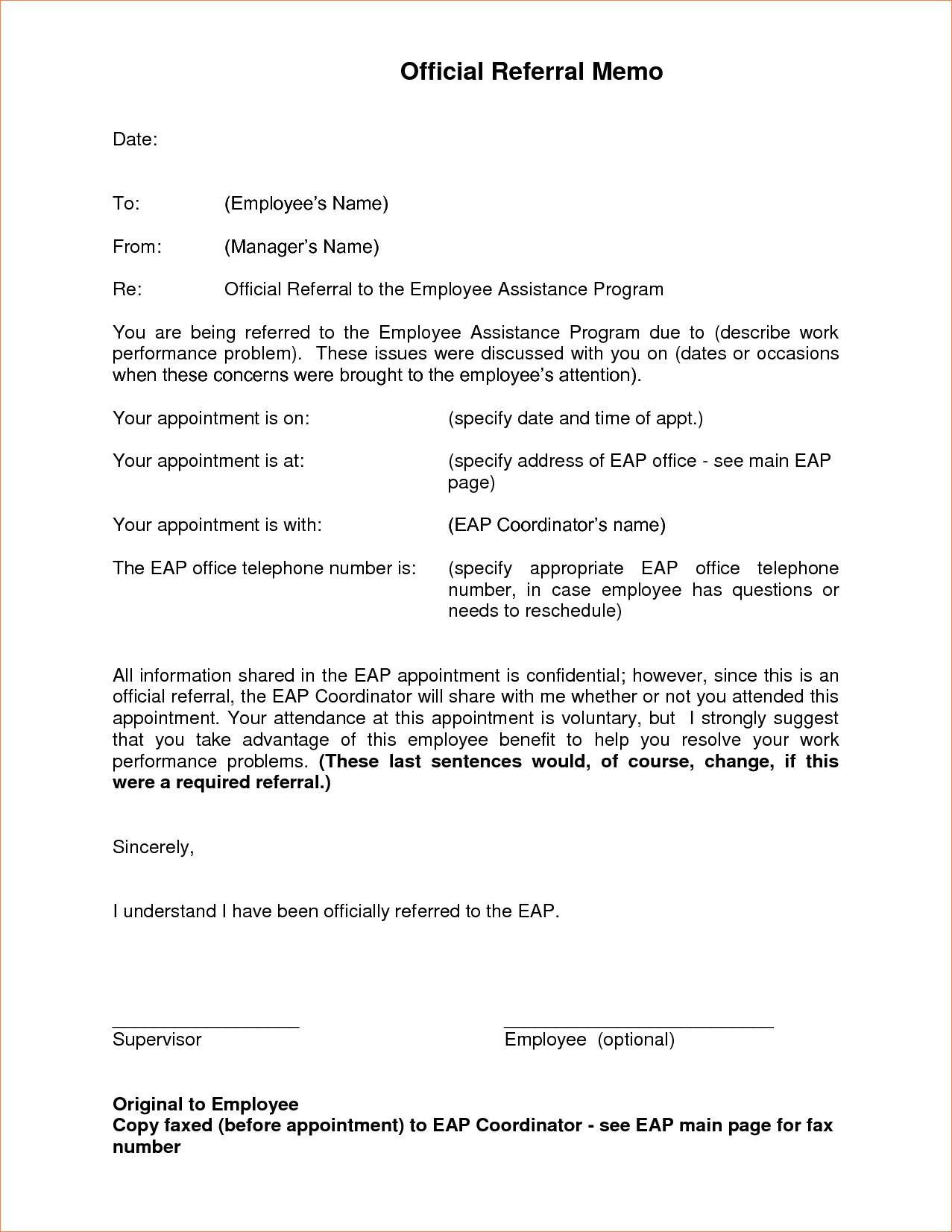 Appointment Letter Format Air Force Memo Formatreport Template