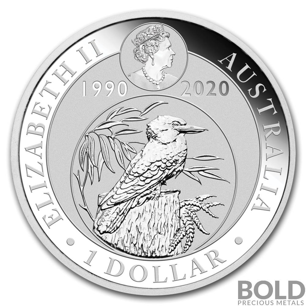 2020 Silver 1 Oz Australia Perth Kookaburra 30th Anniversary Coin Silver Coins Coins Silver Bullion Coins