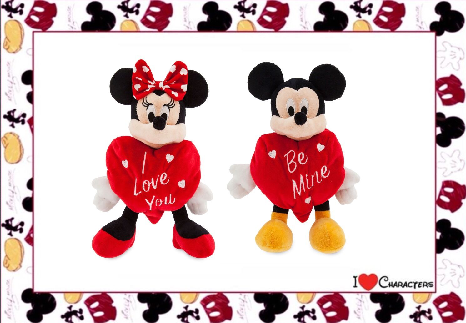 5462ccd44e2 Disney Parks 2019 Mickey Mouse Happy Valentine s Day Be Mine Plush ...