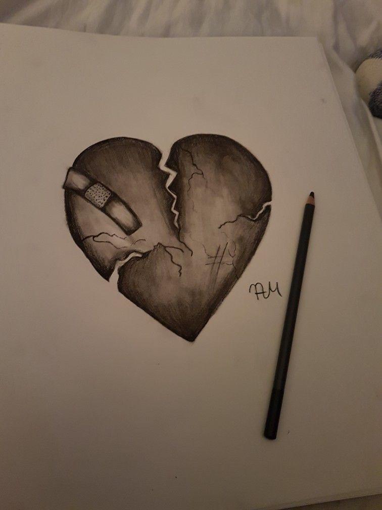 Broken Heart En 2020 Dessins Coeur Brise Dessin De Coeur Dessin Coeur