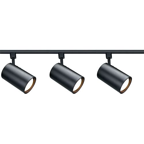 Black Three Light R30 Straight Cylindrical Track Kit Nuvo Lighting Packages