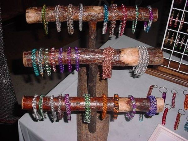 Wooden bracelet display