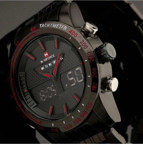 b0ec8b5aabf Pánské sportovní military celoocelové LED hodinky NAVIFORCE + POŠTOVNÉ  ZDARMA Na tento produkt se vztahuje nejen zajímavá sleva