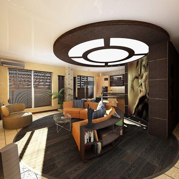 Living Room Ceiling Design at Male Apartment Interior Decorating ...