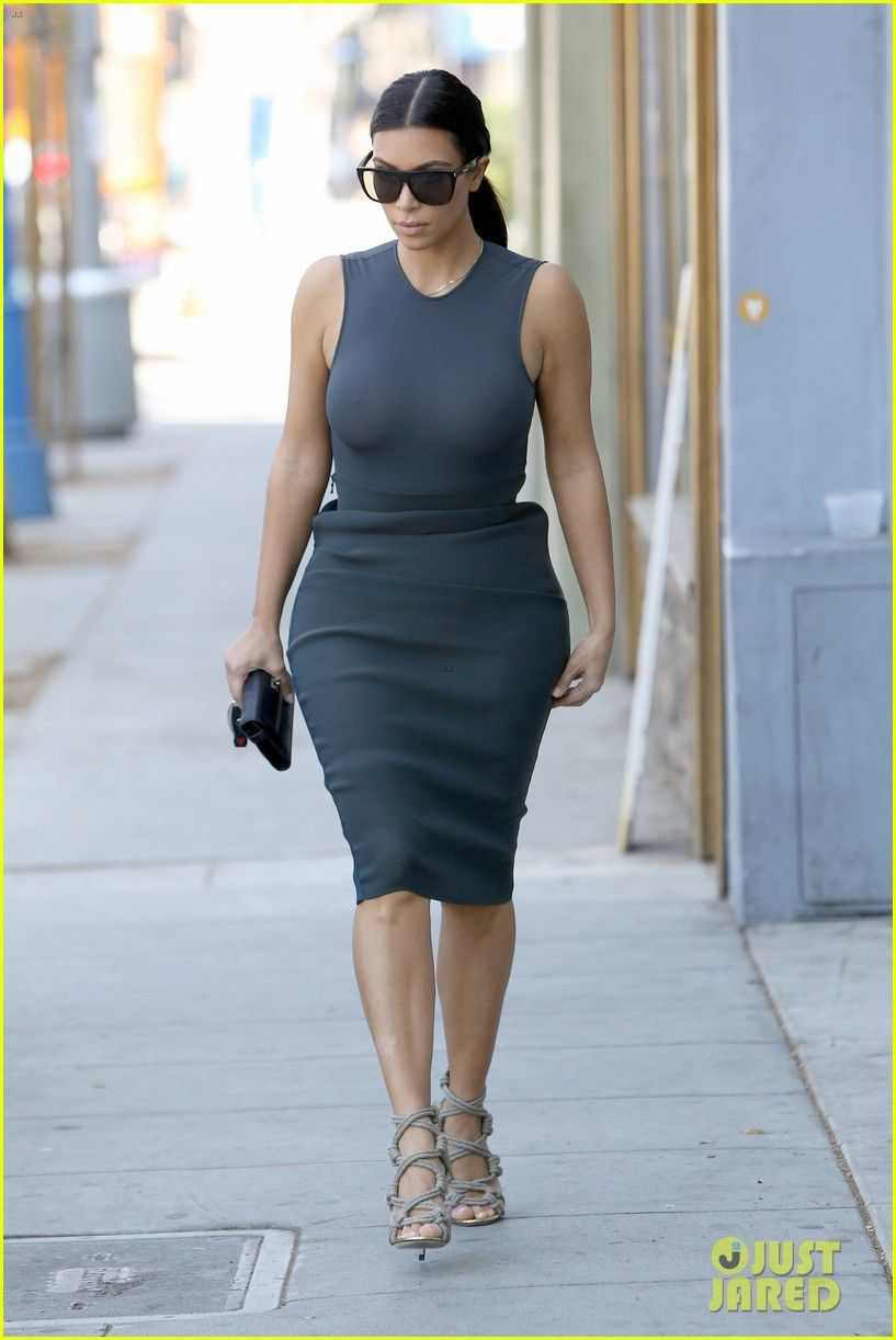 Blue dress kim kardashian ysl