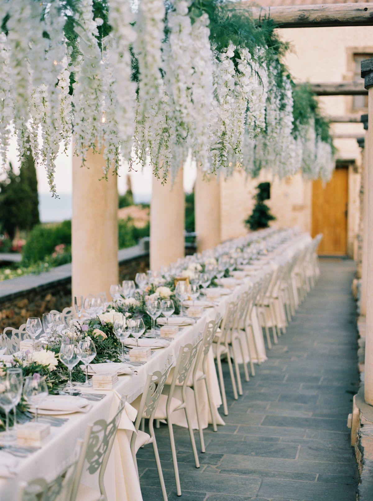 Mamma Mia The Most Gorgeous Kinsterna Hotel Wedding In Greece Beach Wedding Flowers Greek Wedding Greece Wedding