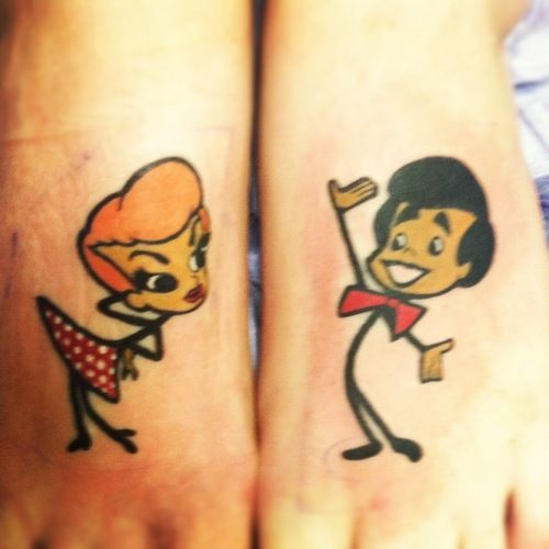 Lucy And Ethel Tattoos