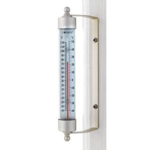 Unbranded Vermont Indoor Outdoor Thermometer Living In Brass T1lfb The Home Depot In 2020 Outdoor Thermometer Classic Outdoor Indoor Outdoor