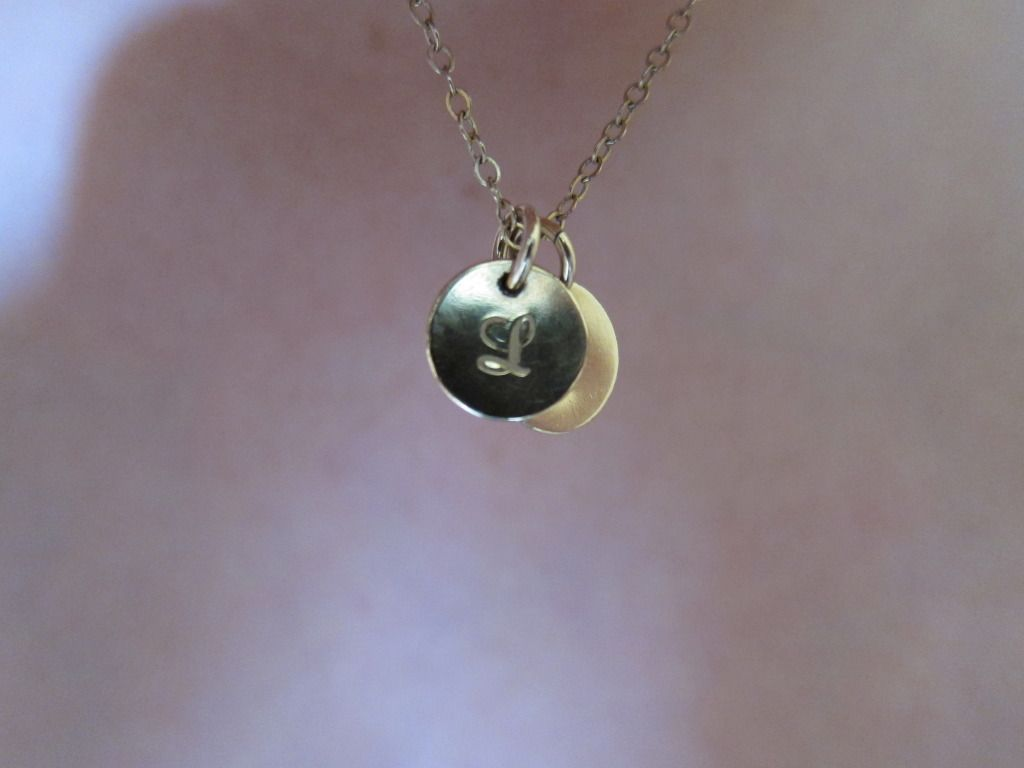 Initial necklace from Prolifique Jewelry on Etsy
