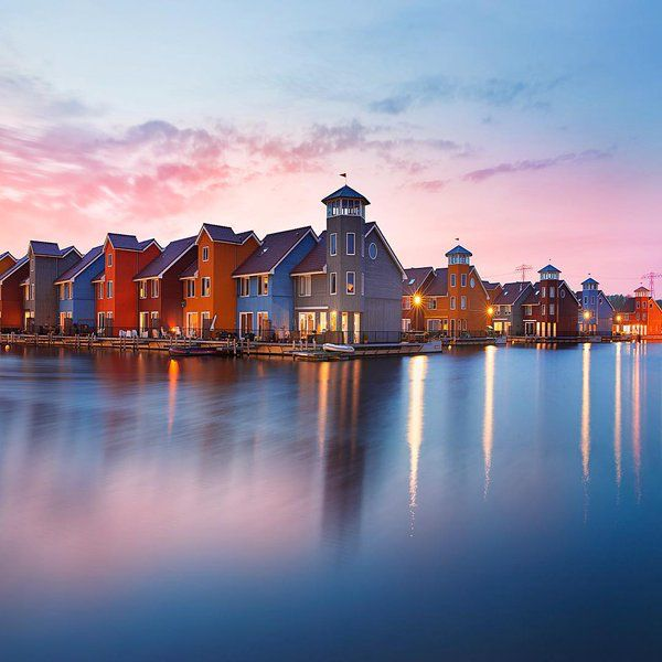 Blue hours in Groningen, Holland