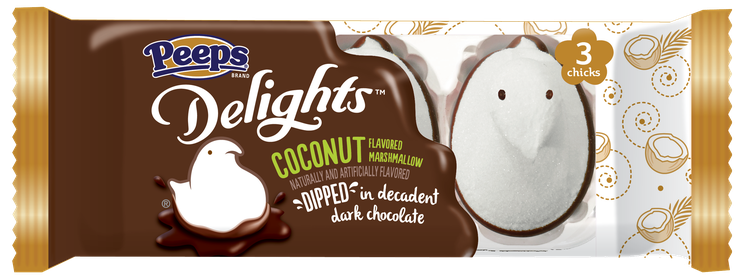 PEEPS® Delights™ Coconut Flavored Marshmallow Dipped in Dark Chocolate #flavoredmarshmallows PEEPS® Delights™ Coconut Flavored Marshmallow Dipped in Dark Chocolate #flavoredmarshmallows PEEPS® Delights™ Coconut Flavored Marshmallow Dipped in Dark Chocolate #flavoredmarshmallows PEEPS® Delights™ Coconut Flavored Marshmallow Dipped in Dark Chocolate #flavoredmarshmallows