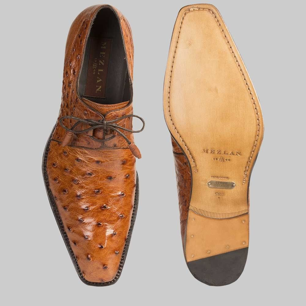 ostrich skin dress shoes