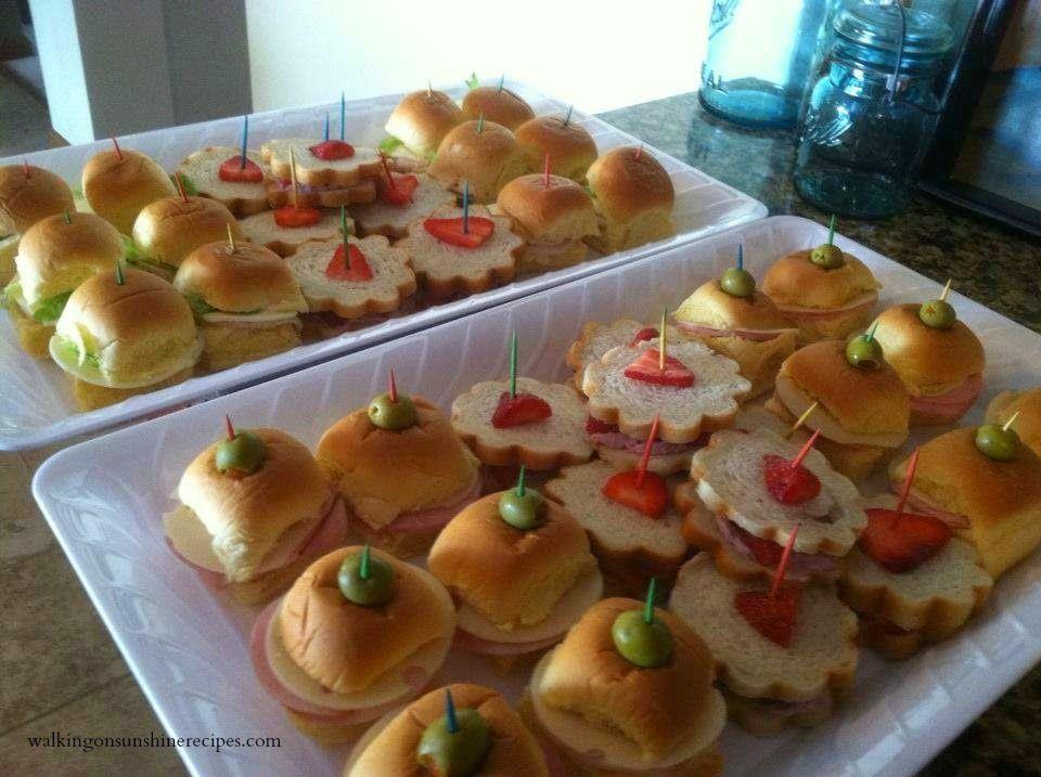 Bridal Shower Luncheon Menu | Walking on Sunshine Recipes