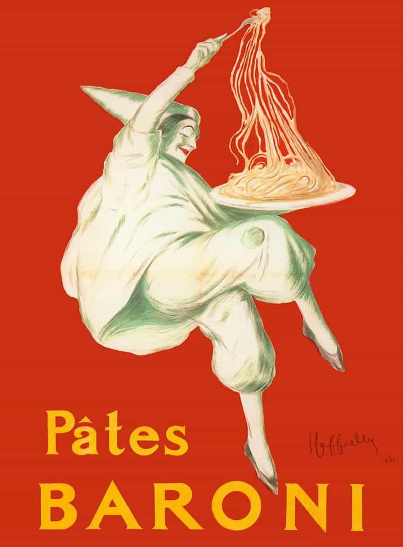 Pates Baroni Leonetto Cappiello Jpg Image Jpeg 800 1087 Pixels Pates Baroni Pasta 1921 Vintage Poster Graphic Art Design