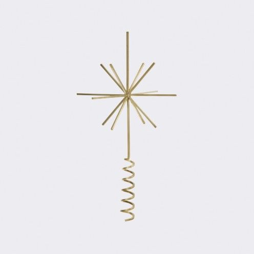 Brass Christmas Tree Top Star By Ferm Living At Calgarys Kit Interior Objects
