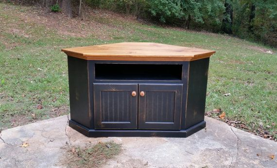 Rustic Handcrafted Corner Tv Cabinet Great By