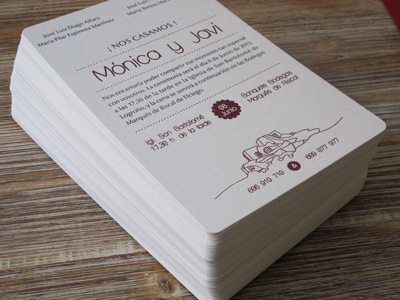 Invitaciones de boda originales y sencillas el taller de - Tarjetas de invitacion de boda originales ...
