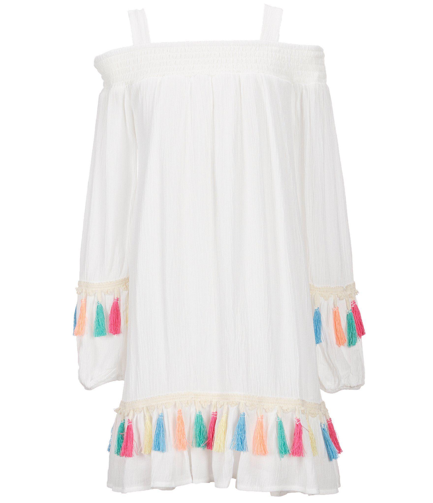 e1659743e84 Shop for GB Girls Big Girls 7-16 Smocked Cold-Shoulder Tassel-Trim Dress at  Dillards.com. Visit Dillards.com to find clothing