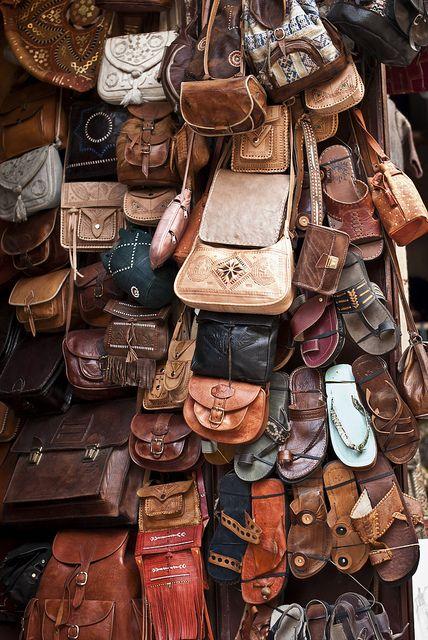 The Leather Slippers In Souk Fez MedinaMorocco Bagsamp; At RLj354qA