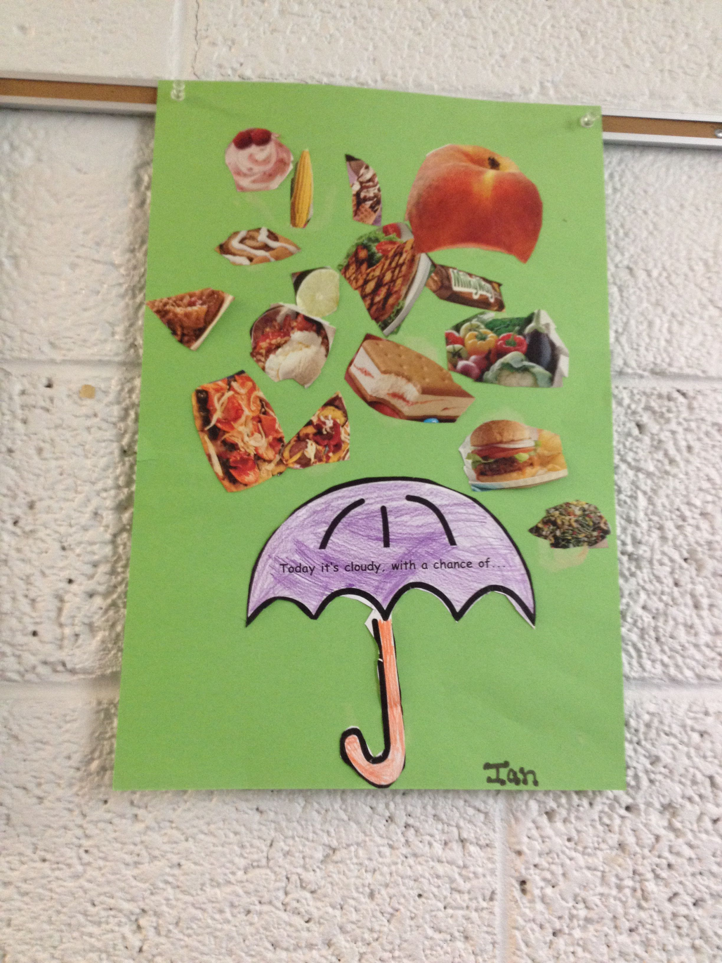 Cloudy with a chance of meatballs craft! | reading | Pinterest ...