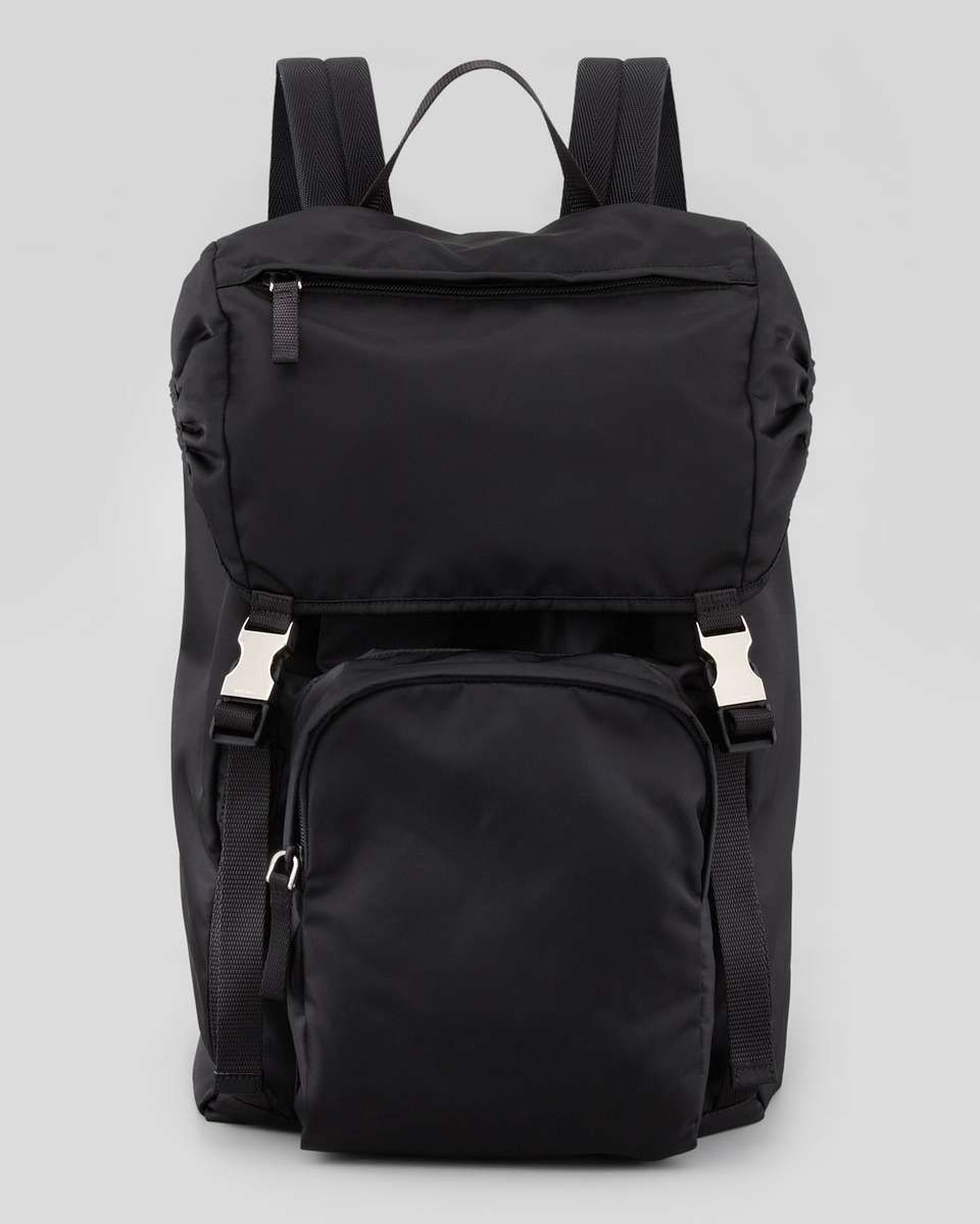 1daf6eea5153 Prada Men s Nylon Double-Buckle Backpack