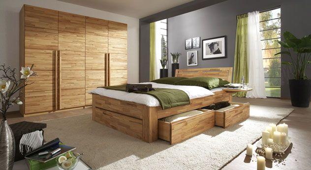 Schlafzimmereinrichtung Andalucia aus Massivholz - Schlafzimmer